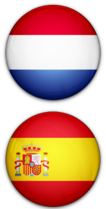 Netherlands & Spain flag buttons
