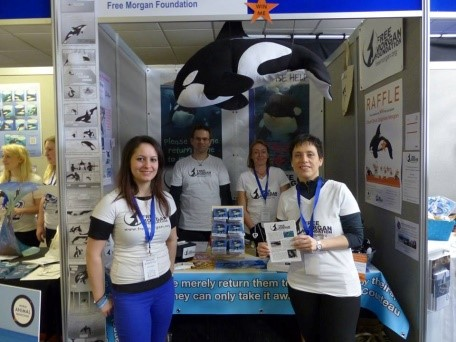 WhaleFest 2015 - FMF booth with volunteers