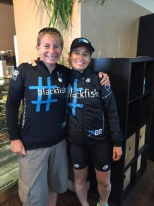 Dr Ingrid Visser & Samantha Berg kitted out in Blackfish Racing gear.