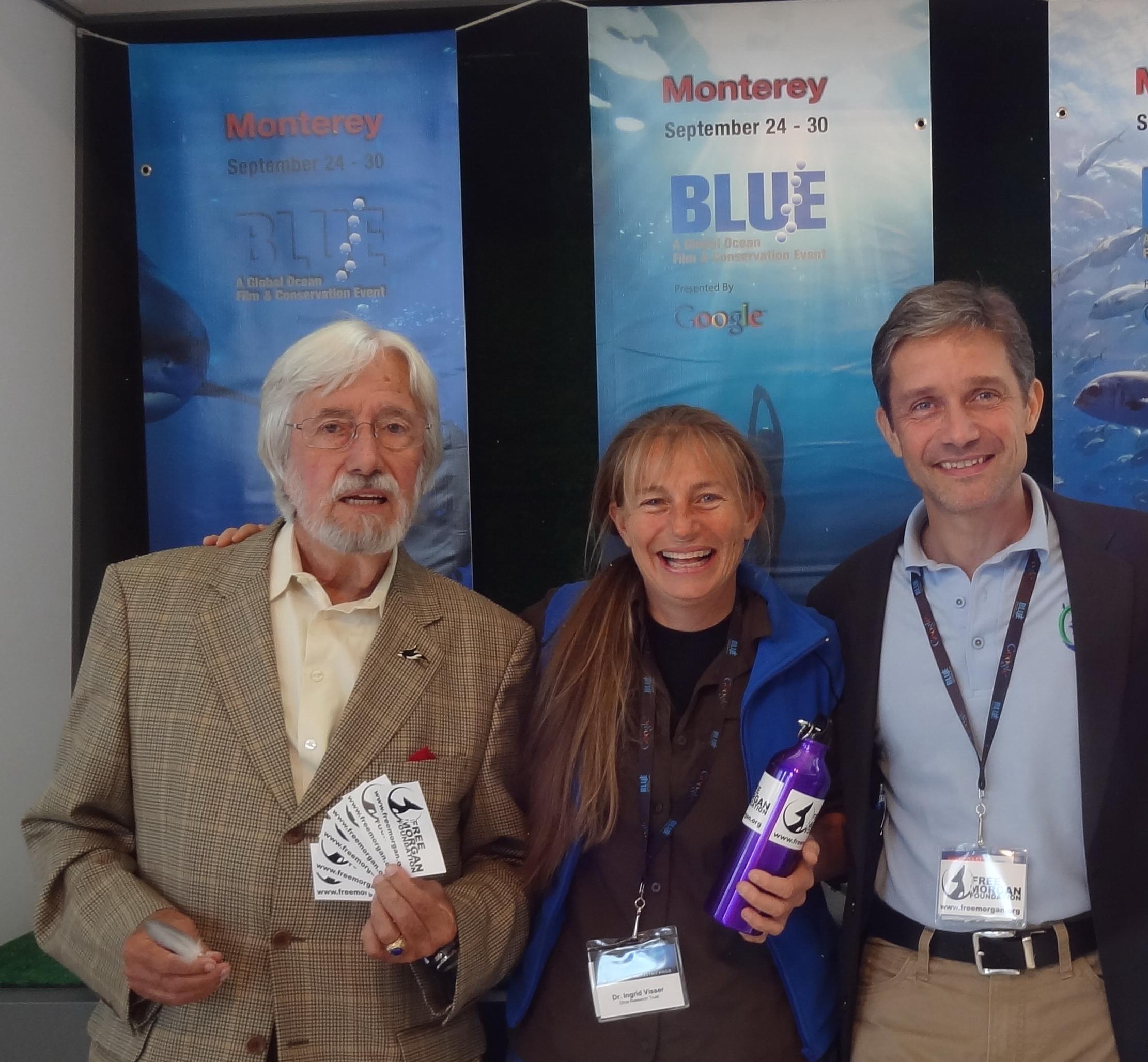 Jean-Micheal Cousteau, Ingrid Visser & Fabian Cousteau @ BLUE 2012